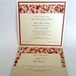 Invitation made special with Chiyogami paper