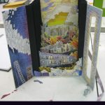 Tunnel book with layered panels